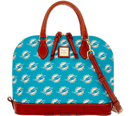 Dooney & Bourke NFL Dolphins Zip Zip Satchel