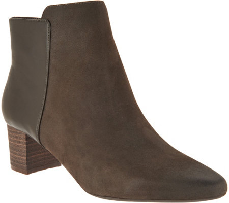 Rockport Total Motion Leather And Suede Ankle Boots
