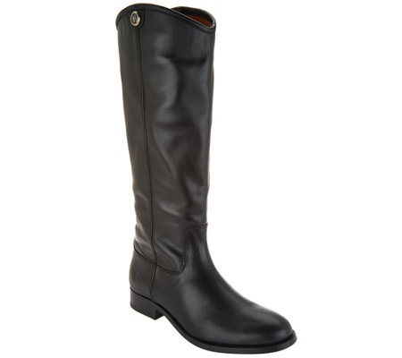 Frye Leather Tall Shaft Pull-on Boots - Melissa Button2