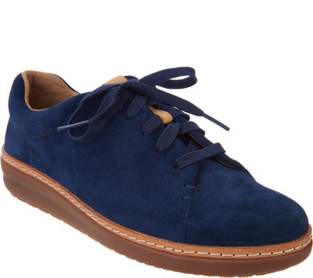 """As Is"" Clarks Artisan Leather Lace Up Shoes - Amberlee Crest"