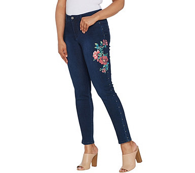 Women with Control My Wonder Denim Embellished Ankle Jeans - A309550