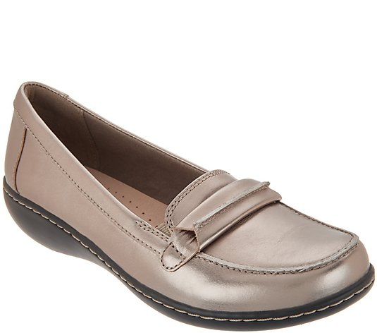 Clarks Collection Leather Slip-On Loafers - Ashland Lily