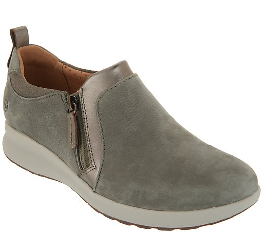 Clarks Unstructured Side-Zip Slip-On Shoes - Un.Adorn Zip