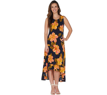 """As Is"" Kelly by Clinton Kelly Regular Knit Maxi Dress with Ruffle Hem"