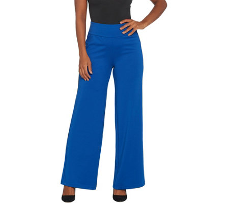Bob Mackie Regular Flat Waist Wide-Leg Pants
