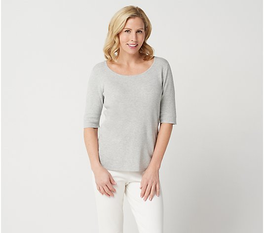 Linea by Louis Dell'Olio Whisper Knit Scoop-Neck Sweater