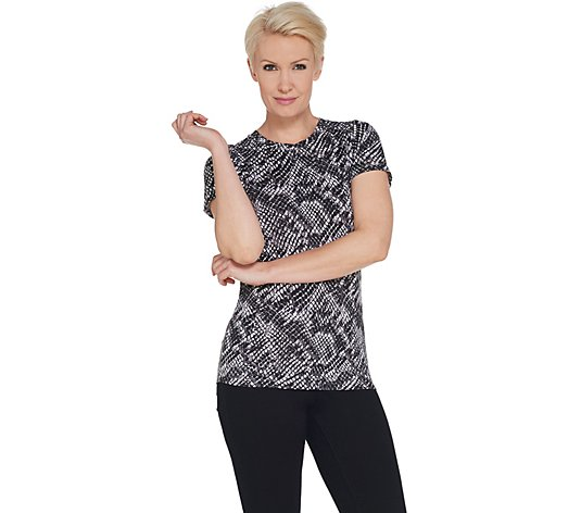 """As Is"" Tracy Anderson for G.I.L.I. Short Sleeve Crew Neck T-Shirt"