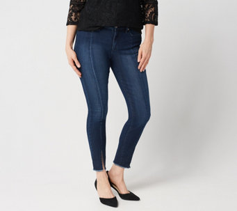 a5bc51a4b59 Isaac Mizrahi Live! TRUE DENIM Regular Ankle Jeans with Front Slit - A352950