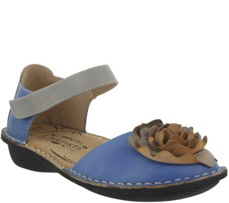 L'Artiste by Spring Step Leather Mary Jane Flats - Caicos