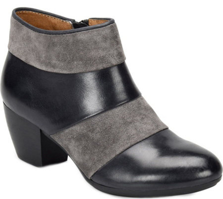 Comfortiva Leather Ankle Boots - Amesbury