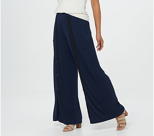 G.I.L.I. Regular Snap Front Wide Leg Knit Pants