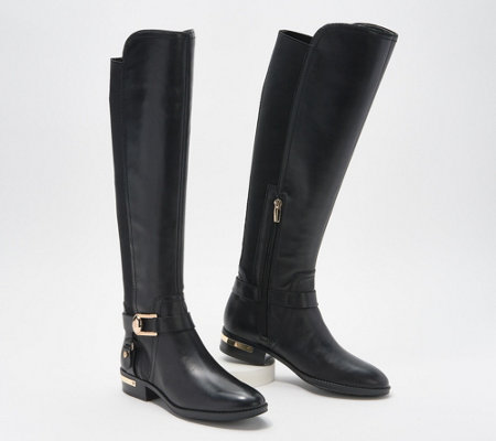 official images great deals 2017 look good shoes sale Vince Camuto Leather Wide Calf Tall Shaft Boots - Pearly - Page 1 ...