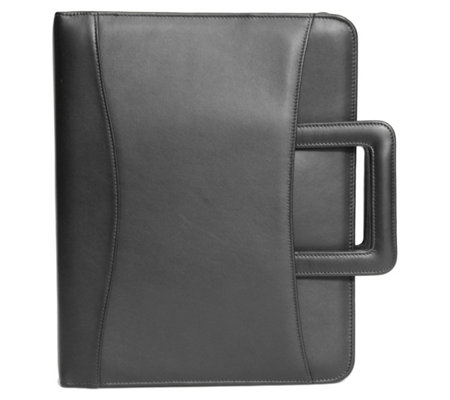 Royce New York Leather Zip Around Binder Padfolio