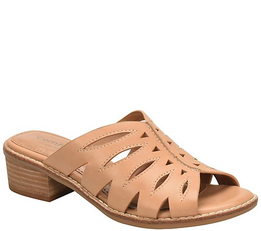 Comfortiva Leather Slides - Breah