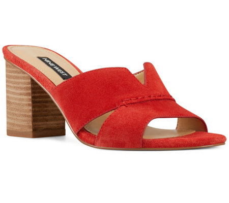 Nine West Slip-On Block Heel Sandals - Nicolet