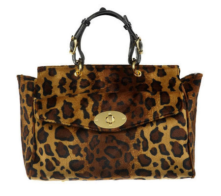 Janie Bryant MOD Retro Animal Print Handbag
