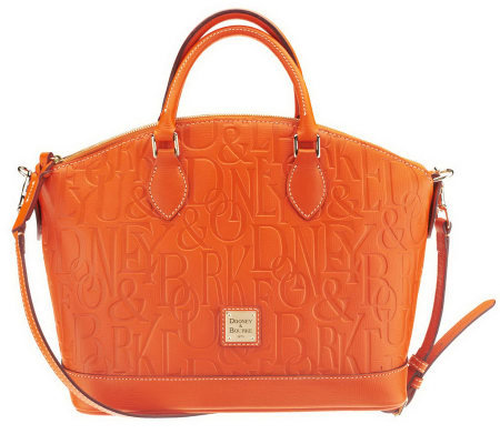 Dooney Bourke Leather Retro Embossed Convertible Satchel