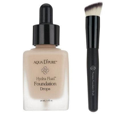 Doll 10 Hydra Fluid Foundation Drops with Precision Brush