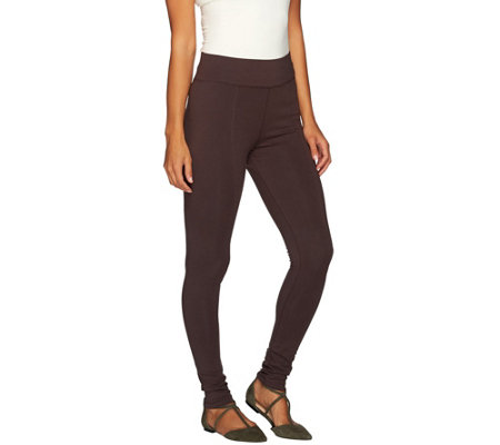 LOGO by Lori Goldstein Pull-On Knit Pants with Pintuck Detail