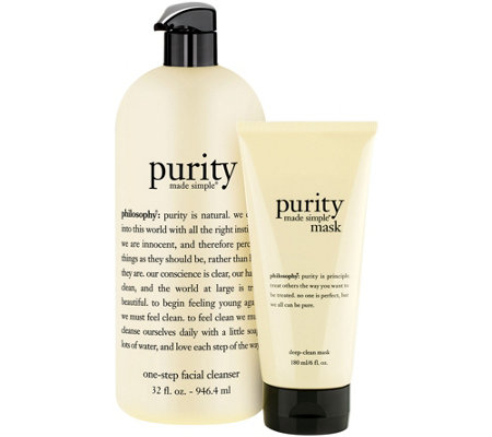 philosophy purity made simple cleanser and mask duo