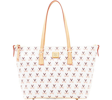 Dooney & Bourke NCAA University of Virginia Zip Top Shopper