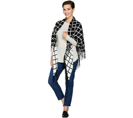 Susan Graver Reversible Wrap with Fringe
