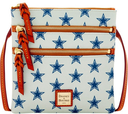 Dooney & Bourke NFL Cowboys Triple Zip Crossbody