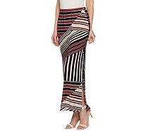 e65d79df83 Susan Graver Printed Liquid Knit Maxi Skirt w/ Slit - Petite - A289051