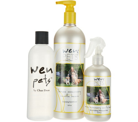 WEN by Chaz Dean Pets 32 oz Cleansing Cond. & 12 oz RTM
