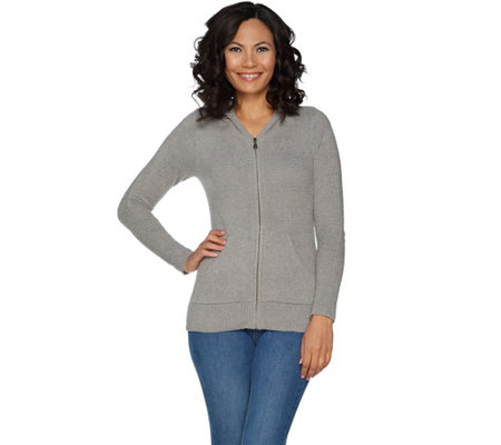 Barefoot Dreams Cozychic Lite Women s Zip-Up Hoodie - Page 1 — QVC.com d9f59a721