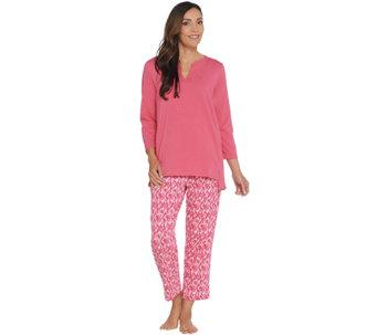 Stan Herman Jersey Knit Tunic and Slim Pant Lounge Set - A301851 47eb3f19e