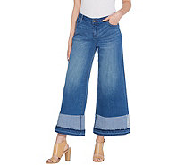 Peace Love World Wide-Leg Jeans with Oversized Cuffs - A307451