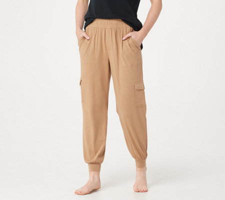 AnyBody Loungewear Cozy Knit Cargo Jogger Pants with Pockets