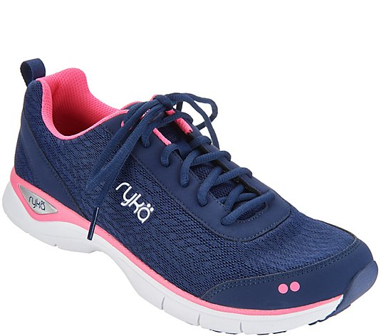 Ryka Mesh Lace-up Walking Sneakers - Rayne