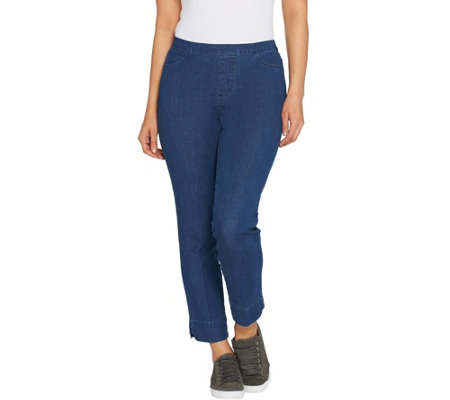 As Is Isaac Mizrahi Live Regular 24 7 Denim Ankle Jeans