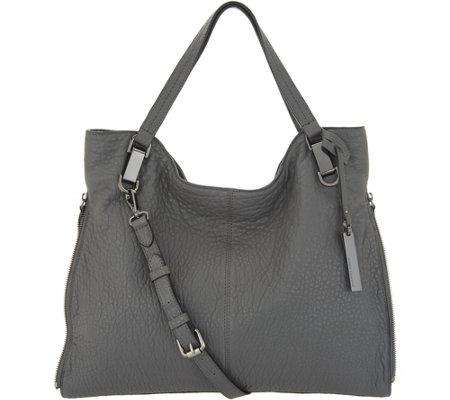 As Is Vince Camuto Lamb Leather Tote Handbag Eliza