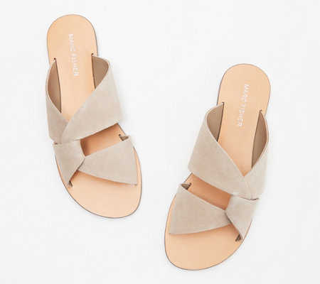 Marc Fisher Leather or Suede Slide Sandals- Bomie