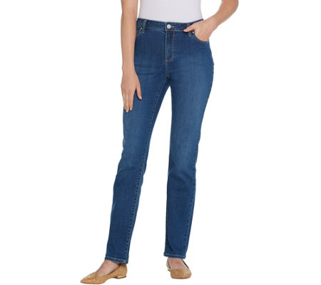 As Is Susan Graver Regular High Stretch Denim Jeans
