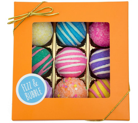 Fizz & Bubble Fruit & Floral Bath Truffles - Set of 9