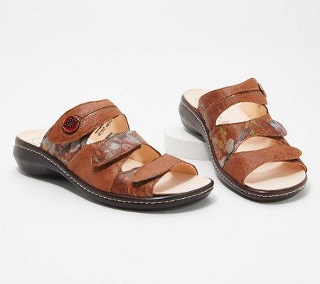 073e928264f Think! Leather Adjustable Slide Sandals- Camilla — QVC.com