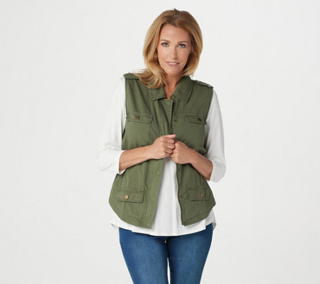Rachel Hollis Ltd Casual Vest with Pockets