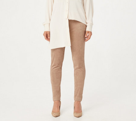 GRAVER Susan Graver Faux Suede Pull-On Leggings