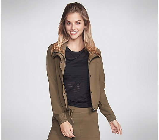 Skechers Apparel SkechWeave Ripstop Crop Jacket