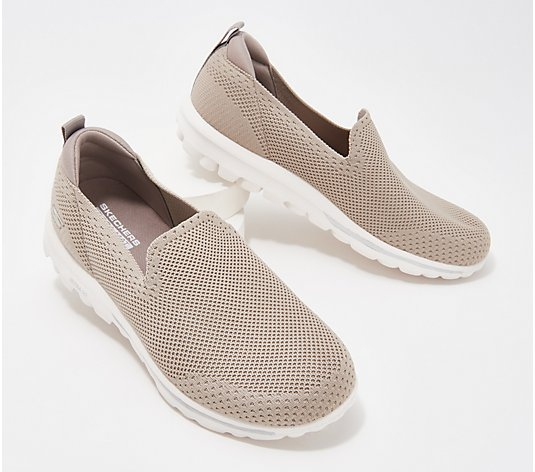 """As Is"" Skechers GoWalk Classic Solid Knit Slip-On Shoes- Daydream"