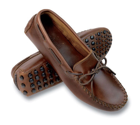 03dfe09e3b4 Minnetonka Women s Straight Plug Leather Driving Moccasins - Page 1 ...