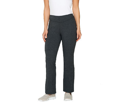 Denim & Co. Active Petite Duo-Stretch Slightly Boot Cut Pants