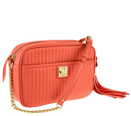 Isaac Mizrahi Live! Bridgehampton Lamb Leather Camera Bag