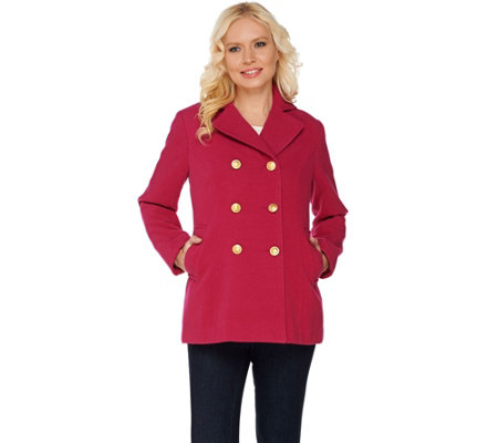 Joan Rivers Classic Double Breasted Peacoat