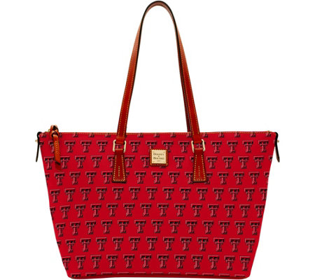 Dooney & Bourke NCAA Texas Tech University Zip Top Shopper
