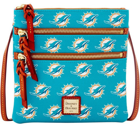 Dooney & Bourke NFL Dolphins Triple Zip Crossbody